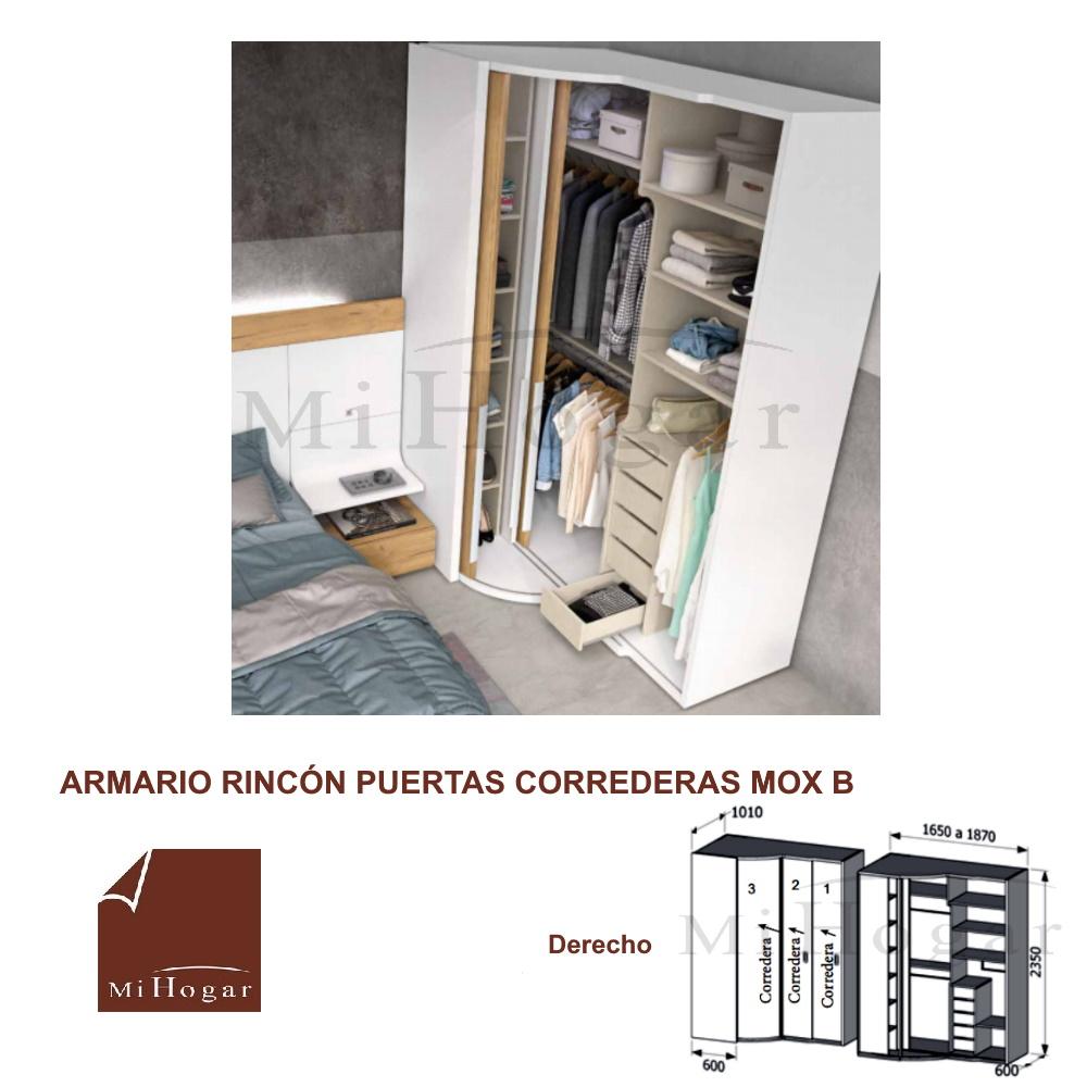 ARMARIO RINCON PUERTAS CORREDERAS 1 DORMITORIO JUVENIL MOX