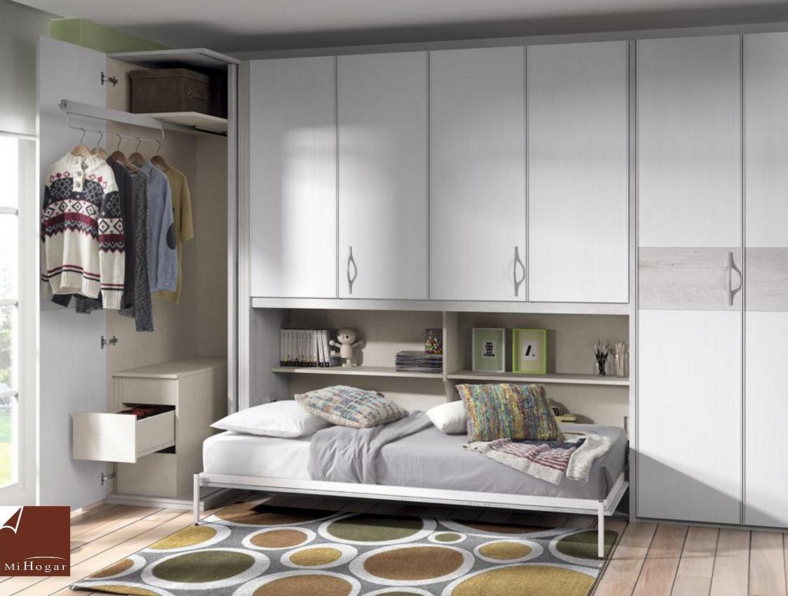 Habitacion cama abatible fabulous camas abatibles y - Habitacion juvenil cama abatible ...
