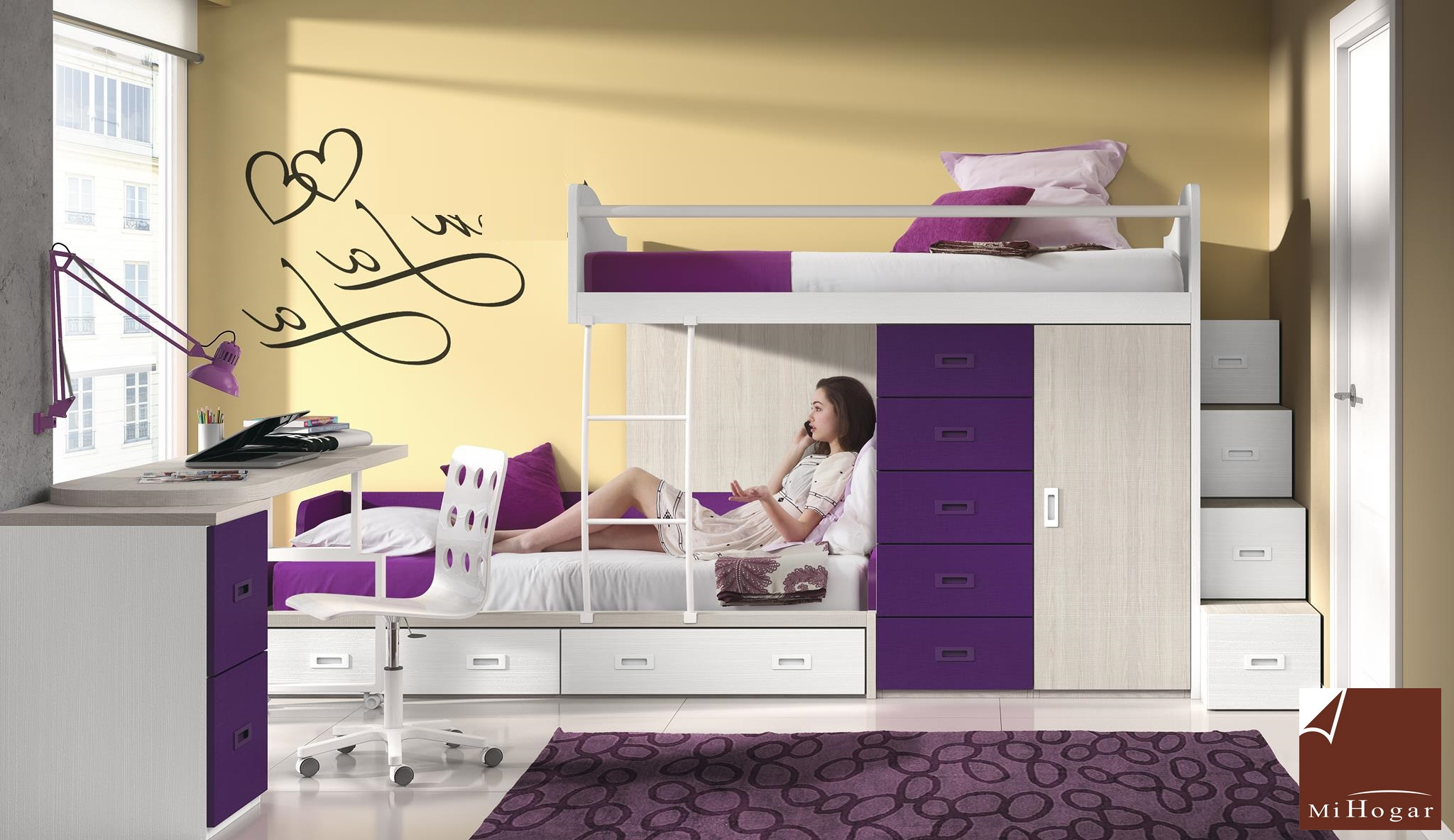 Dormitorios juveniles mox mi hogar for Dormitorios juveniles tipo tren