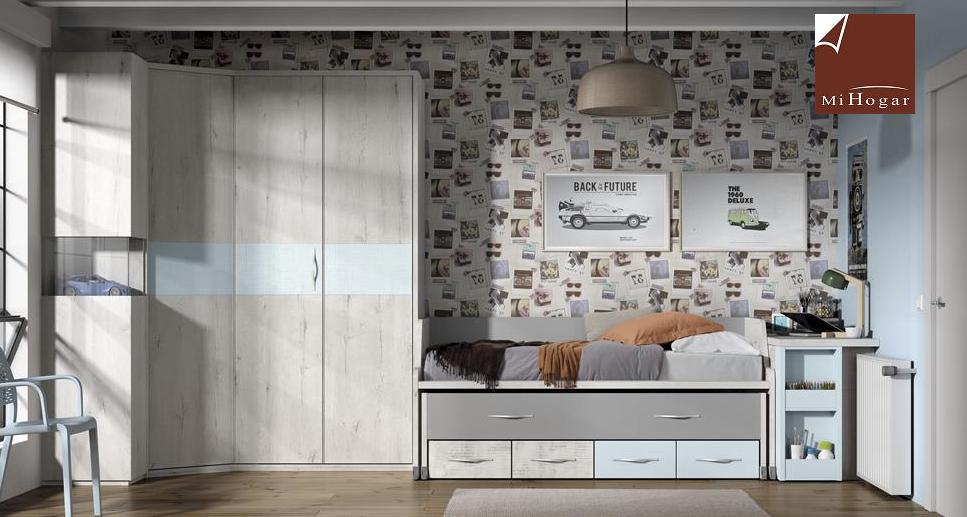 Armario rinc n puerta plegable mox muebles mi hogar - Armarios con cama incorporada ...