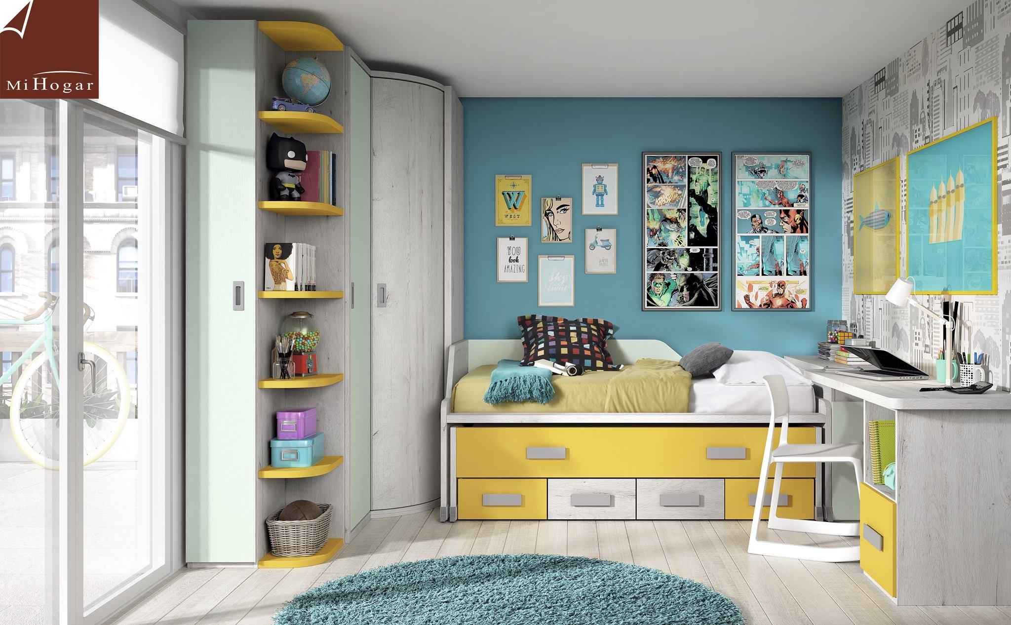 Armario rinc n puertas correderas mox muebles mi hogar for Habitaciones juveniles cama 105