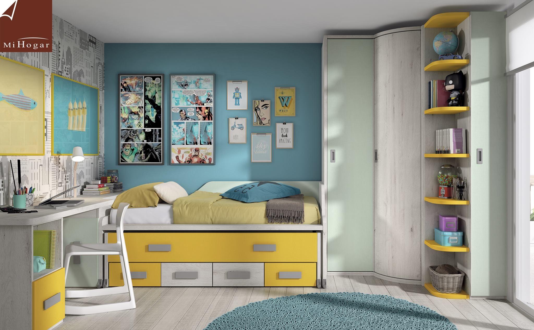 Dormitorios juveniles con dos camas gallery of dormitorio - Decoracion habitacion juvenil masculina ...