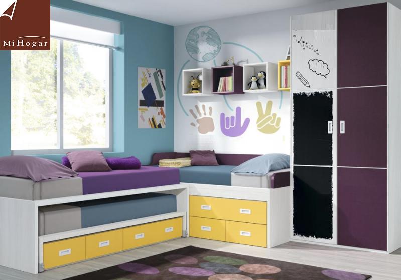 Cat logo dormitorios juveniles mox muebles mi hogar Dormitorio juvenil en l