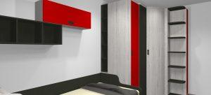 proyecto 3d mueblesmihogar armario rincon puertas correderas a