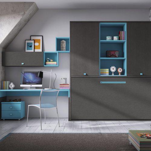cama abatible estanteria armario gala