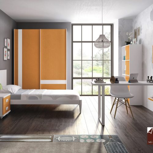 cama cabecera con armario puertas correderas gala