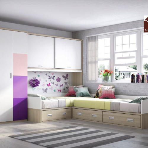cama doble nido con armario gala