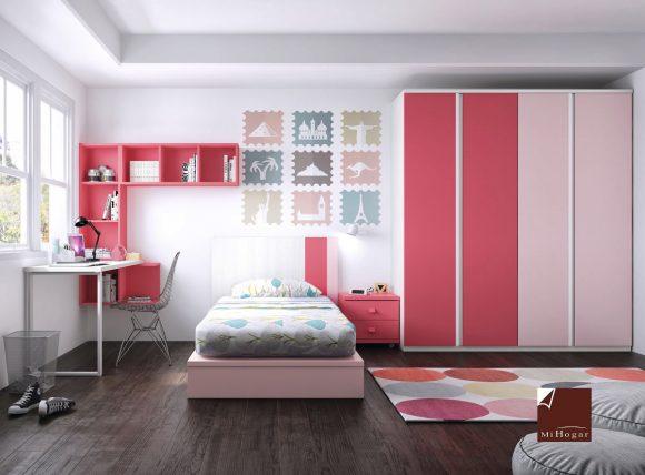 cama tatami cabecera y armario gala