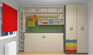 proyecto 3d cama abatible horizontal