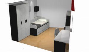 proyecto 3d habitacion irregular b