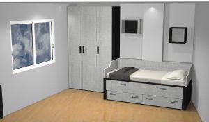 proyecto 3d habitacion irregular c