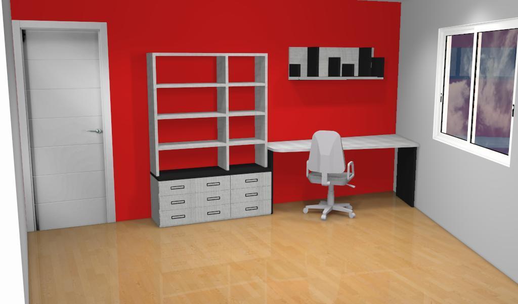 Proyecto integral de habitaci n proyecto 3d muebles for Planificador habitacion 3d