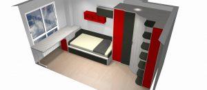 proyecto 3d mueblesmihogar armario rincon puertas correderas mesa giratoria a