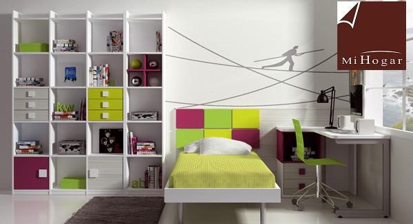 cama cabecero cajon dormitorios infantiles malaca