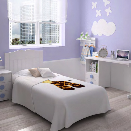 cama cabecero mesilla dormitorios infantiles mvs