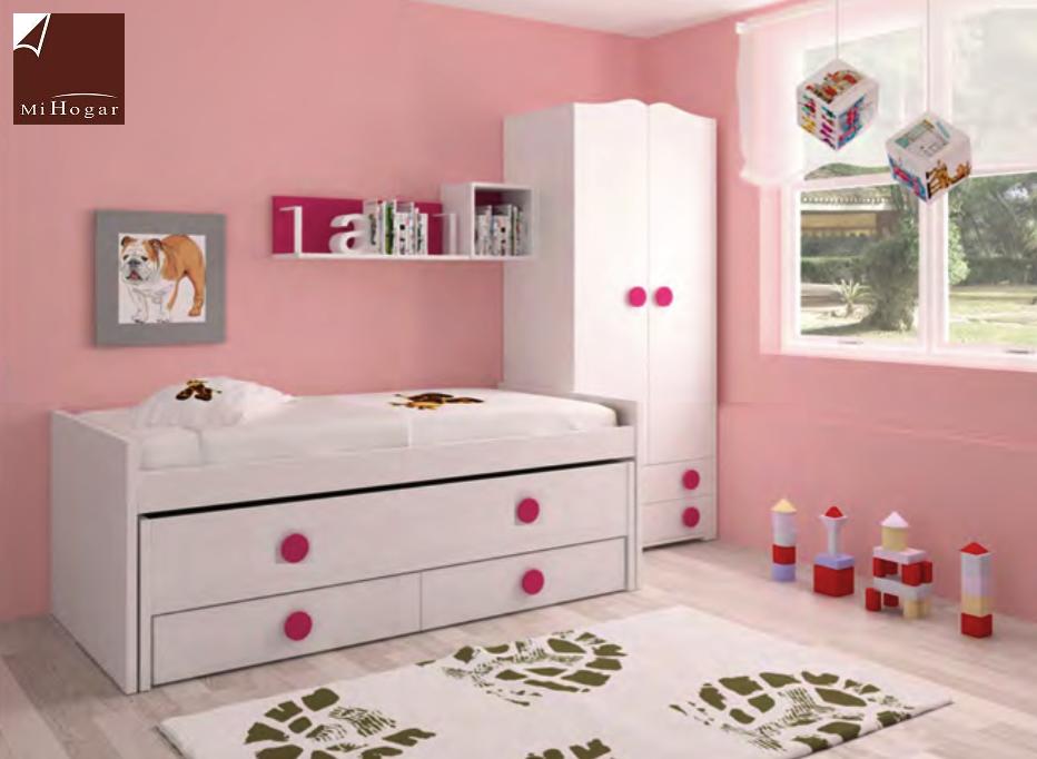 Dormitorio infantil 10 mvs muebles mi hogar for Cama dormitorio infantil