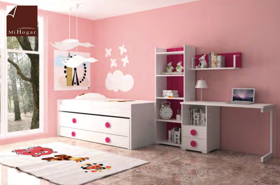 cama compacto y extraible cajon dormitorios infantiles mvs
