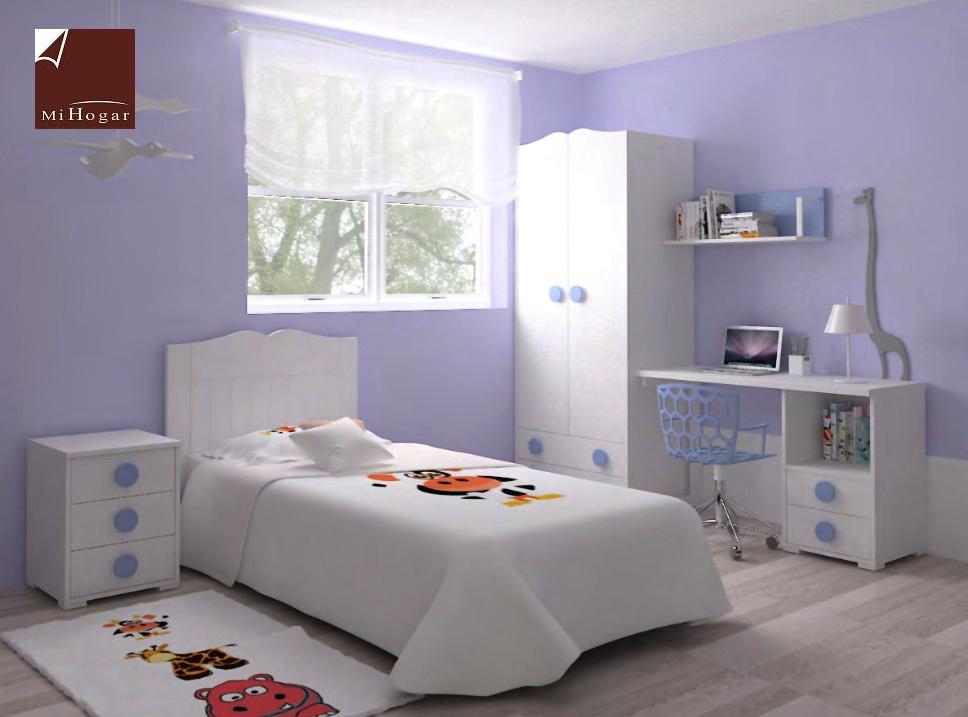 Dormitorio infantil 4 mvs muebles mi hogar - Cabecero cama infantil ...
