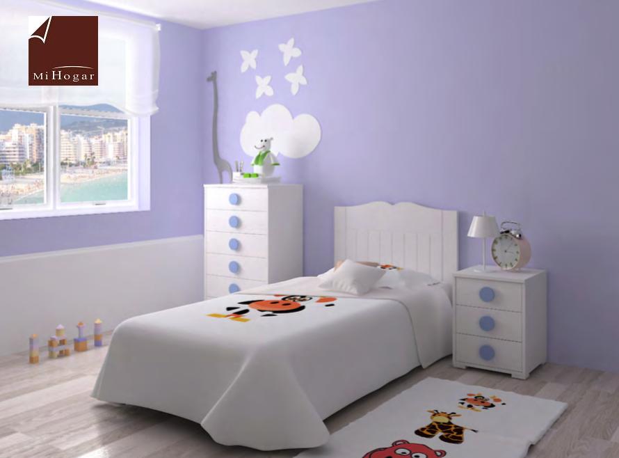 Dormitorio infantil 1 mvs muebles mi hogar - Cabecero cama infantil ...