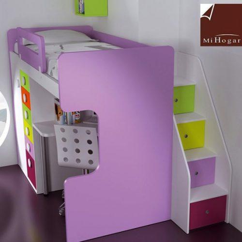 cama escalera cajones dormitorios infantiles malaca