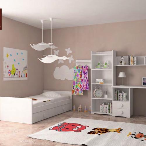 cama nido con extraible blanca dormitorios infantiles mvs