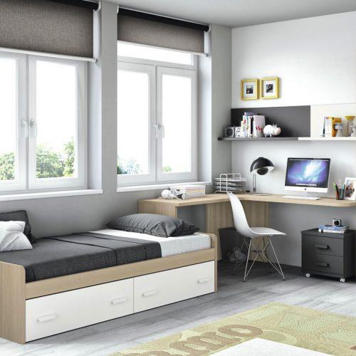 cama nido dos cajones blanco dormitorios juveniles