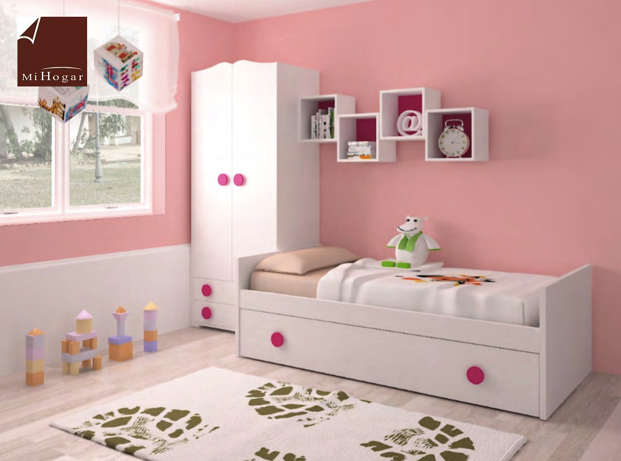 Dormitorio infantil 2 mvs muebles mi hogar - Camas nido infantiles merkamueble ...