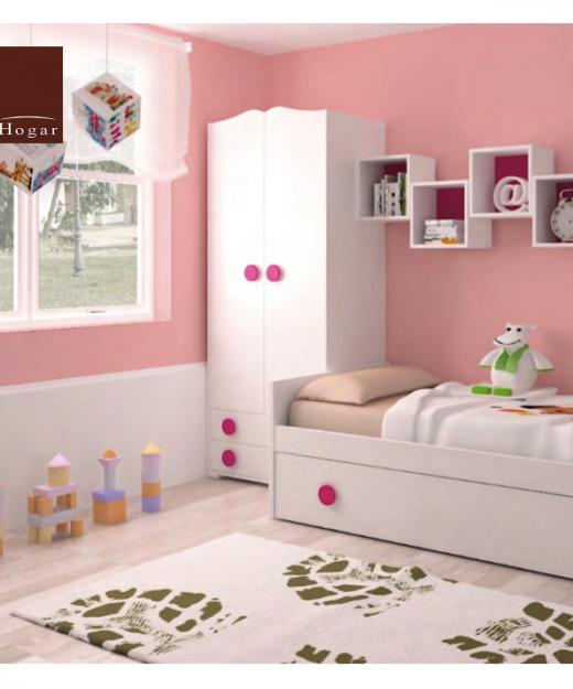 dormitorio cama nido y extraible rosa dormitorios infantiles mvs