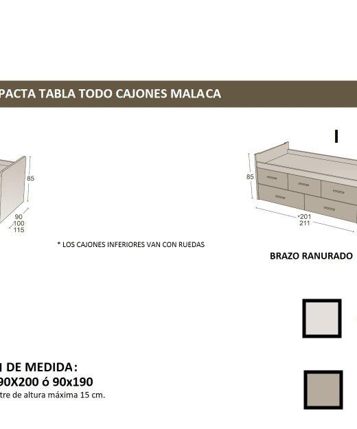CAMAS NIDO LACADAS MALACA   MUEBLES MI HOGAR