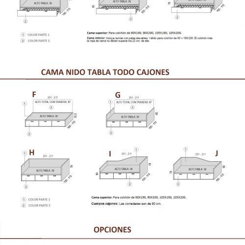 MEDIDAS-TÉCNICO CAMA NIDO TABLA HOMELIKE