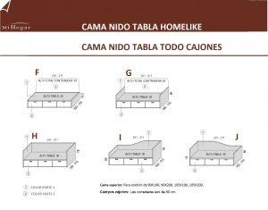 MEDIDAS-TÉCNICO CAMA NIDO TABLA TODO CAJONES HOMELIKE