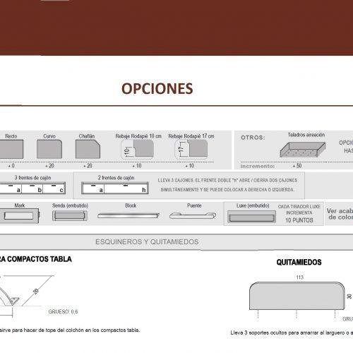 MEDIDAS-TÉCNICO OPCIONES PARA CAMA NIDO TABLA HOMELIKE