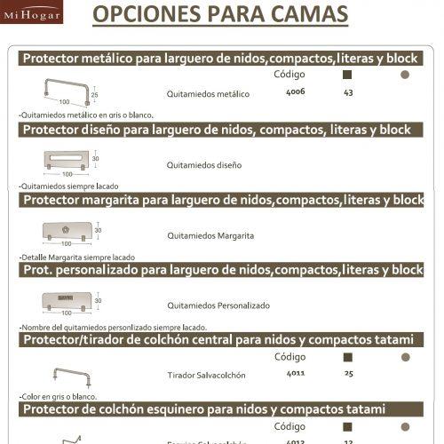 OPCIONES PARA CAMAS MALACA