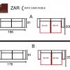 medidas sofa cama doble zar