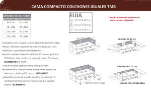 tecnico cama compacto colchones iguales tmb