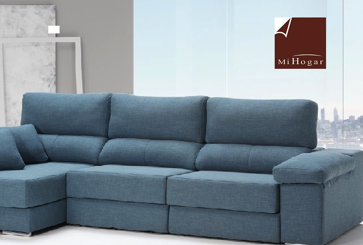 H rcules sof con 3 chaise longue oferta muebles mi hogar for Sofas originales online