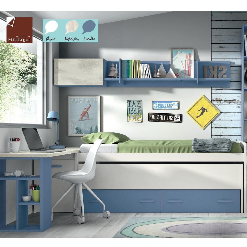Cama compacto somier low muebles mi hogar - Somier con cajones ...