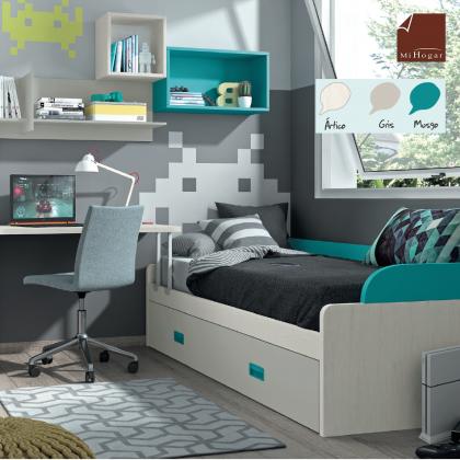 Cabeceros camas lacados malaca muebles mi hogar - Somier cama nido ...