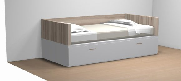 CAMA NIDO TABLA ARRASTRE ELEVABLE BRAZOS RECTOS TMB