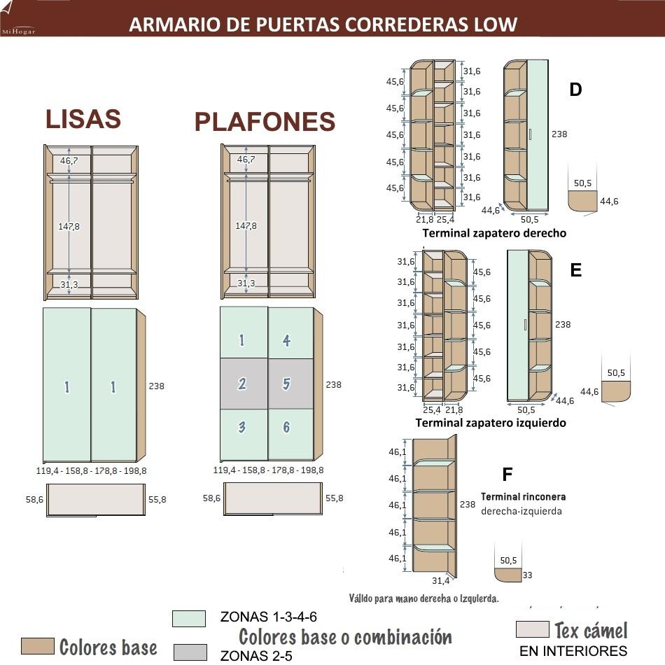 Armario puertas correderas low muebles mi hogar for Armario puertas correderas 100 cm
