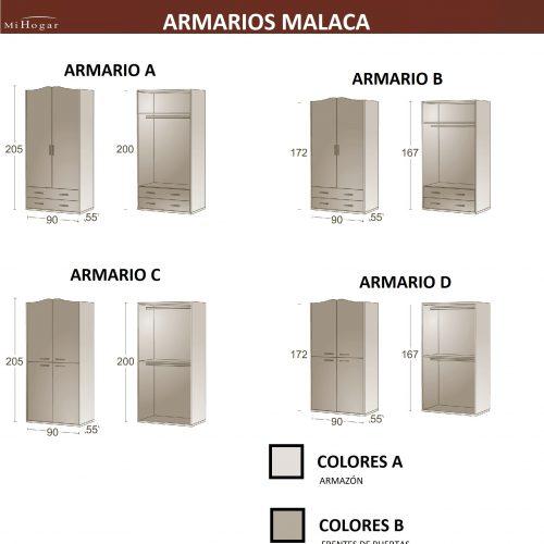 MEDIDAS ARMARIOS INFANTILES MALACA