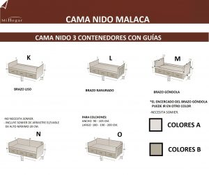MEDIDAS CAMA NIDO 3 CONTENEDORES GUIAS MALACA