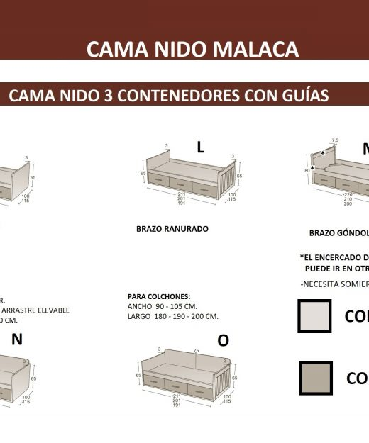 Compra online camas nidos cabeceros juveniles categor as for Medidas estandar de colchones