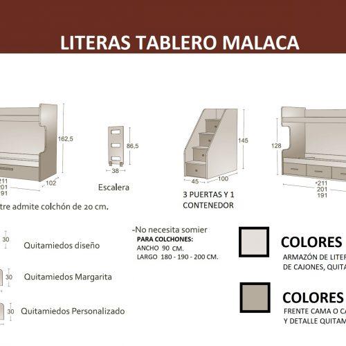 MEDIDAS LITERAS TABLERO MALACA