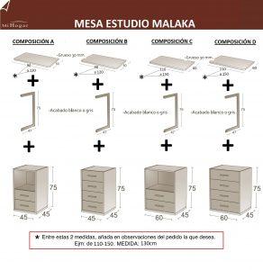 MEDIDAS MESA DE ESTUDIO INFANTIL MALACA
