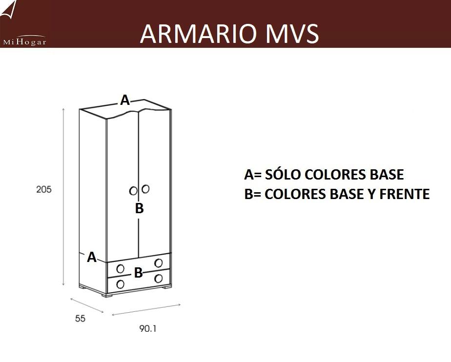 Armario con cajones mvs muebles mi hogar - Armarios a medida online ...