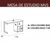 TÉCNICO-MEDIDAS MESA DE ESTUDIO DORMITORIO INFANTIL MVS
