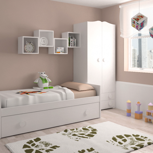 armario cama nido estante dormitorio infantil