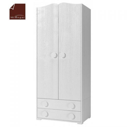 armario con cajones blanco dormitorio infantil mvs