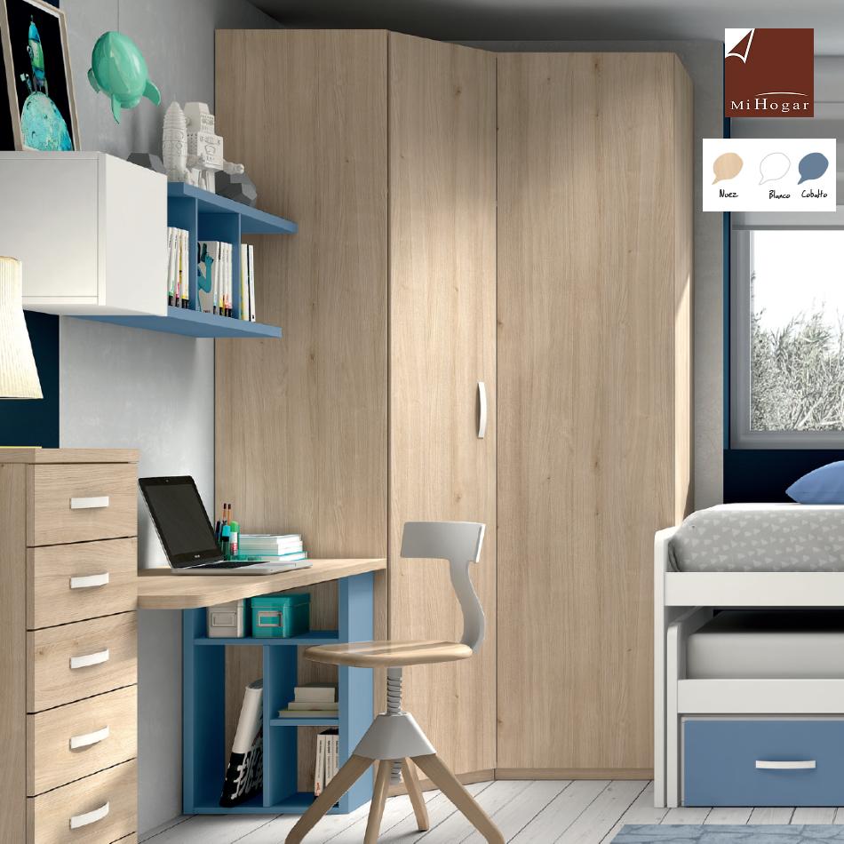 armario rincón puerta chaflán recta lisa dormitorio juveniles low